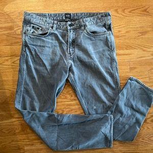 Grey/blue Hugo Boss slim jeans waist - 32